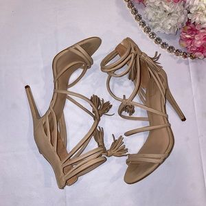 Aldo nude heels with fringe